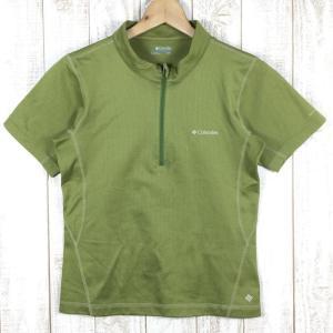 WOMENs M コロンビア オムニウィック クイックドライ ショートスリーブ ジップネック シャツ COLUMBIA グリーン系|2ndgear-outdoor