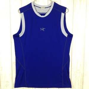 MENs M アークテリクス モータス スリーブレス シャツ ARCTERYX 10681 ブルー系 2ndgear-outdoor