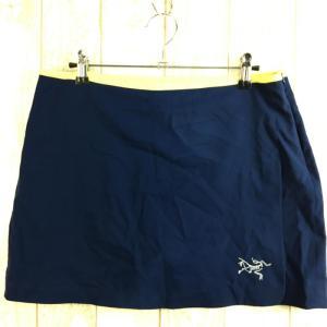 WOMENs M アークテリクス ランニング スカート インナー付 ARCTERYX ネイビー系 2ndgear-outdoor