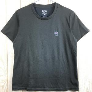 WOMENs L マウンテンハードウェア グラフィック クイックドライ Tシャツ MOUNTAIN HARDWEAR OR6968 チャコール系|2ndgear-outdoor