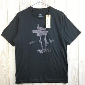 MENs S ミレー クイックドライ シャモニー Tシャツ MILLET ブラック系 2ndgear-outdoor