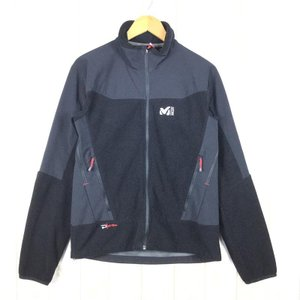 【MEN's M】ミレー ウィンドシールド フリース ジャケット 防風 MILLET ブラック系 2ndgear-outdoor