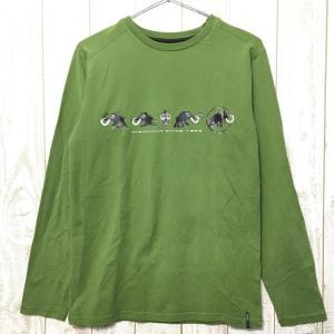 MENs S マムート ロングスリーブ ストレッチ コットン Tシャツ MAMMUT 1041-01870 グリーン系|2ndgear-outdoor