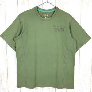 MENs M マウンテンハードウェア コットン ショートスリーブ Tシャツ MOUNTAIN HARDWEAR OM2236 グリーン系|2ndgear-outdoor
