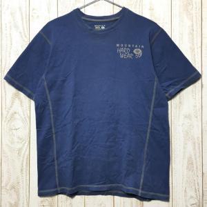 MENs M マウンテンハードウェア コットン ショートスリーブ Tシャツ MOUNTAIN HARDWEAR OM2236 ブルー系|2ndgear-outdoor