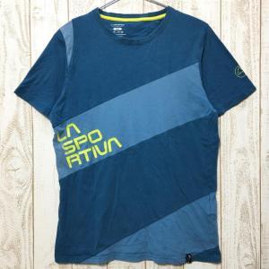 MENs M スポルティバ スラブ Tシャツ SLAB T-SHIRT SPORTIVA H44 ブルー系|2ndgear-outdoor
