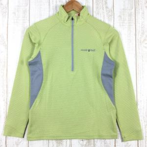 【WOMEN's M】モンベル ジオライン 3Dメッシュ ロングスリーブ ジップシャツ MONTBELL 1104701 イエロー系|2ndgear-outdoor