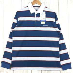 【MEN's M】モンベル WIC.ラガーシャツ ロングスリーブ MONTBELL 1104782 PUID ピュラインディゴ ブルー系|2ndgear-outdoor