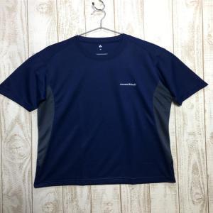 MENs M モンベル ウイックロン ZEO T ショートスリーブ Tシャツ MONTBELL 1104936 ネイビー系|2ndgear-outdoor