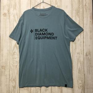 MENs L ブラックダイヤモンド スタックロゴ ティー オーガニックコットン ストレッチ Tシャツ BLACK DIAMOND ブルー系|2ndgear-outdoor
