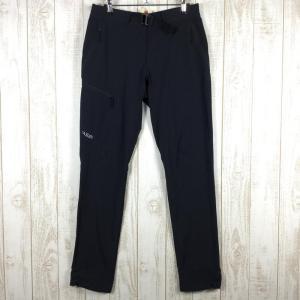 MENs 30 ラブ フルクラム パンツ FULCRUM PANTS ライトウェイト ソフトシェル トレッキング パンツ RAB QFT-30 ブラッ|2ndgear-outdoor