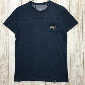 MENs XS ミレー グラニテ Tシャツ ショートスリーブ クイックドライ 冷感 MILLET MIV8667 ネイビー系 2ndgear-outdoor