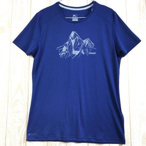 MENs M ミレー アルピサミット Tシャツ ショートスリーブ ALPI SUMMIT TS SS MILLET MIV8444 ネイビー系 2ndgear-outdoor