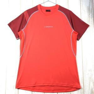 MENs M スポルティバ モーション Tシャツ Motion T-Shirt SPORTIVA J50 レッド系|2ndgear-outdoor