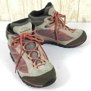 WOMENs US7 24.0cm モンベル ティトン ブーツ ゴアテックス トレッキングシューズ MONTBELL ベージュ系|2ndgear-outdoor