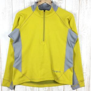 MENs S モンベル ジオライン 3Dサーマル ロングスリーブジップシャツ MONTBELL 1104650 イエロー系|2ndgear-outdoor