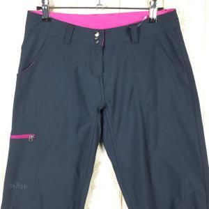 WOMENs 8 ラブ ヘリックスパンツ HELIX PANTS ソフトシェル パンツ RAB QFS-97 ネイビー系|2ndgear-outdoor