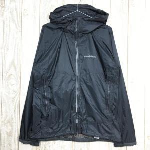 MENs L  モンベル バーサ ライト ジャケット レインシェル フーディ MONTBELL 1128291 ブラック系|2ndgear-outdoor
