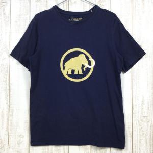 MENs S  マムート ロゴ Tシャツ Logo T-Shirt オーガニックコットン MAMMUT 1041-07290 ネイビー系|2ndgear-outdoor