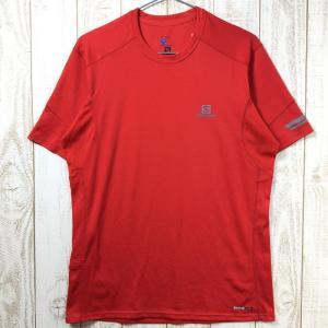 MENs M  サロモン アジャイル Tシャツ AGILE SS TEE SALOMON L37117800 MATADOR-X レッド系|2ndgear-outdoor