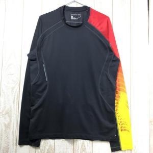 MENs L  サロモン ロングスリーブ クイックドライ ストレッチ Tシャツ SALOMON グレー系|2ndgear-outdoor