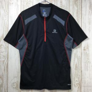 MENs M  サロモン ファスト ウィング Tシャツ FAST WING TEE SALOMON L37670800 グレー系|2ndgear-outdoor