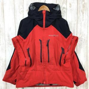MENs M  モンベル ドリューパーカ ゴアテックス ジャケット フーディ MONTBELL 1102370 レッド系|2ndgear-outdoor