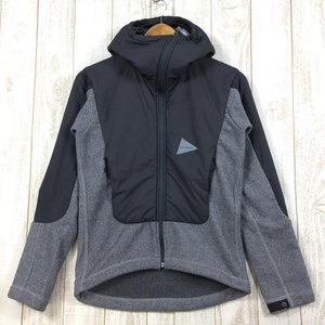 UNISEX 1  アンドワンダー ツイル フリース ジャケット Twill Fleece Jacket プリマロフト 入手困難 AND WANDER 2ndgear-outdoor