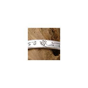 送料無料  シルバーアクセサリー b0276 ブレスレット(バングル) 梵字 酉年の守護神 古代文字が見えない力であなたを守護してくれる|2pcs
