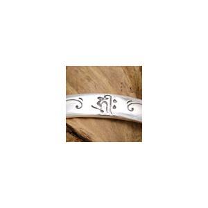 送料無料  シルバーアクセサリー b0277 ブレスレット(バングル) 梵字 戌年・亥年の守護神 古代文字が見えない力であなたを守護してくれる|2pcs