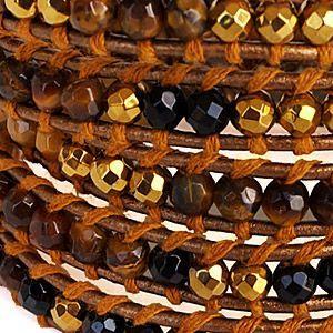 ブレスレット メンズ 天然石パワーストーンブレスレット レディース ラップブレスレット b0593|2pcs|06