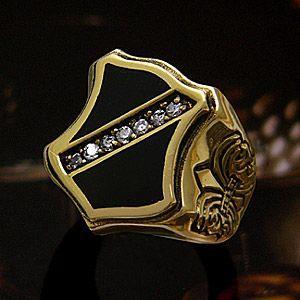 メール便なら送料無料  シルバーアクセサリー リング・指輪 真鍮・ブラス ユリ・フレア エンブレム bssri0017 2pcs