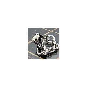 メール便なら送料無料  シルバーアクセサリー ピアス シルバー925 スカル(骸骨) ライオン pi0227 バラ売り 2pcs
