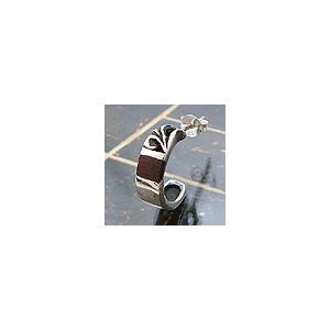 メール便なら送料無料  シルバーアクセサリー ピアス シルバー925 アラベスク 木 pi0229 バラ売り|2pcs