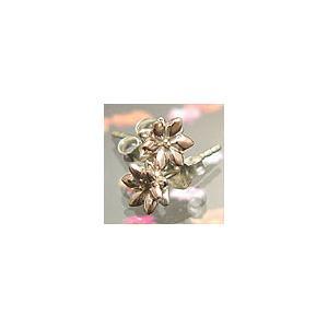 メール便なら送料無料  シルバーアクセサリー ピアス シルバー925 花 フラワー pi0298 バラ売り|2pcs