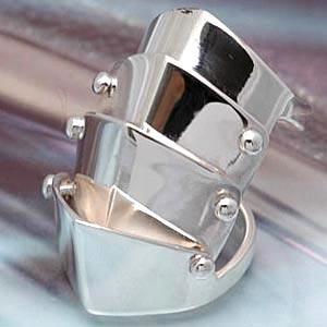 送料無料  指輪 シルバーリング アーマーリング メンズ リング r0276|2pcs