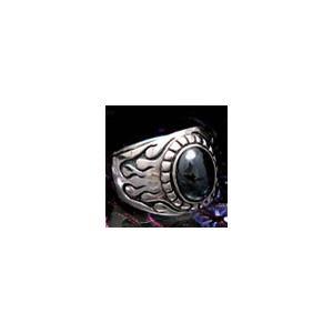 送料無料  シルバーアクセサリー r0322 リング(指輪) 炎 ヘマタイト|2pcs