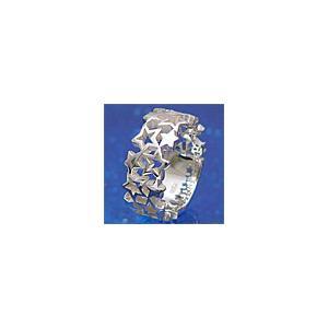 メール便なら送料無料  シルバーアクセサリー シルバーリング 指輪 メンズ リング 星・スター r0337|2pcs