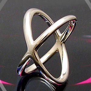メール便なら送料無料  シルバーアクセサリー シルバーリング 指輪 メンズ リング クロス r0339|2pcs