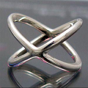 送料無料  ペアリング 指輪 クロス r0339-pair ペアセット ギフトBOX付き|2pcs