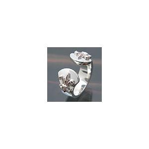 送料無料  シルバーアクセサリー r0374 百合(フレア) ピンクシルバー 2pcs