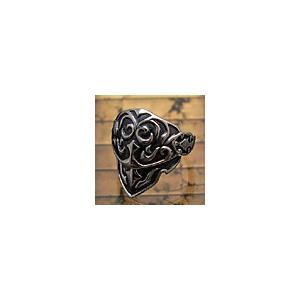 送料無料  シルバーアクセサリー シルバー925 リング GO EAST 甲冑 r0405|2pcs