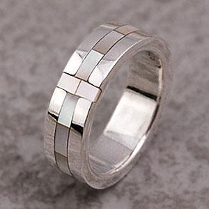 送料無料  シルバーアクセサリー 指輪 シルバーリング シェル クロス 十字架 シェル シルバー925 r0423|2pcs