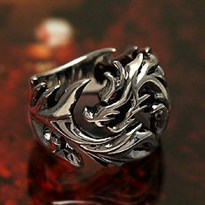 送料無料  シルバーアクセサリー 指輪 メンズ シルバーリング メンズ ドラゴンリング 指輪 r0424|2pcs