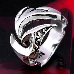 送料無料  シルバーアクセサリー シルバーリング 指輪 メンズ リング トライバル r0434|2pcs