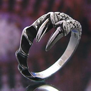 メール便なら送料無料  シルバーリング 龍 ドラゴンリング メンズ 指輪 メンズリング r0439|2pcs