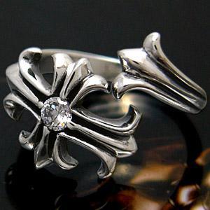 メール便なら送料無料  シルバーアクセサリー シルバーリング 指輪 メンズ リング クロス・十字架 フリー r0452|2pcs