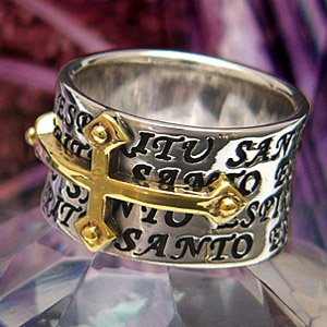 送料無料  シルバーアクセサリー シルバーリング 指輪 メンズ リング クロスリング 十字架 r0456|2pcs