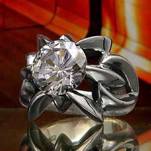 送料無料  シルバーアクセサリー シルバーリング 指輪 メンズ リング ジルコニア r0466|2pcs