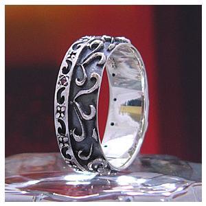 送料無料  シルバーアクセサリー シルバーリング 指輪 メンズ リング ガーネット r0496|2pcs